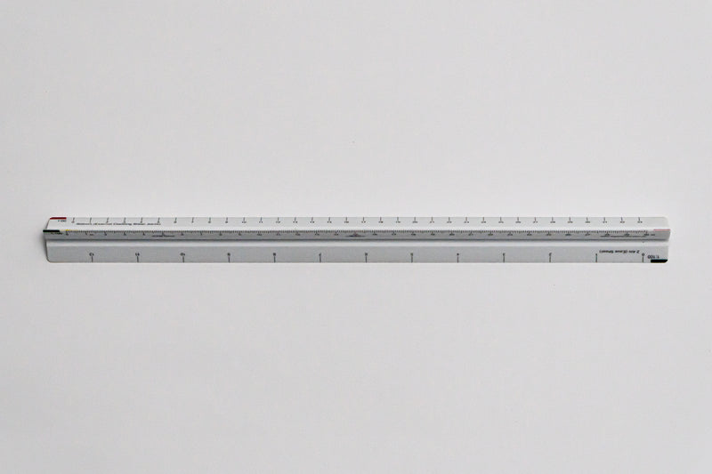 CTM9312 Ratios: 1: 100 - Quantity surveyor hand scale ruler, 300mm