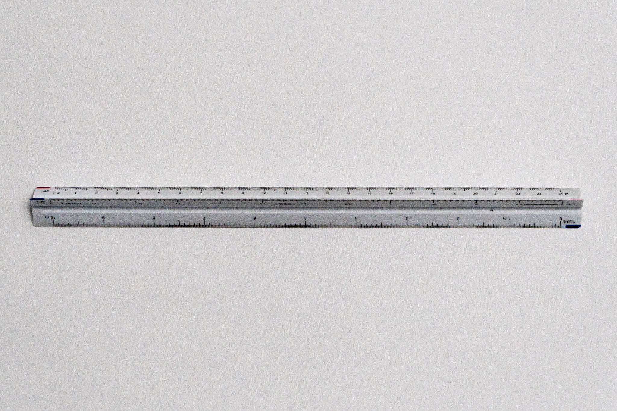 CTM9512 Ratios: 1: 20,33.3,40,50,80,100 - Hand scale ruler, 300mm