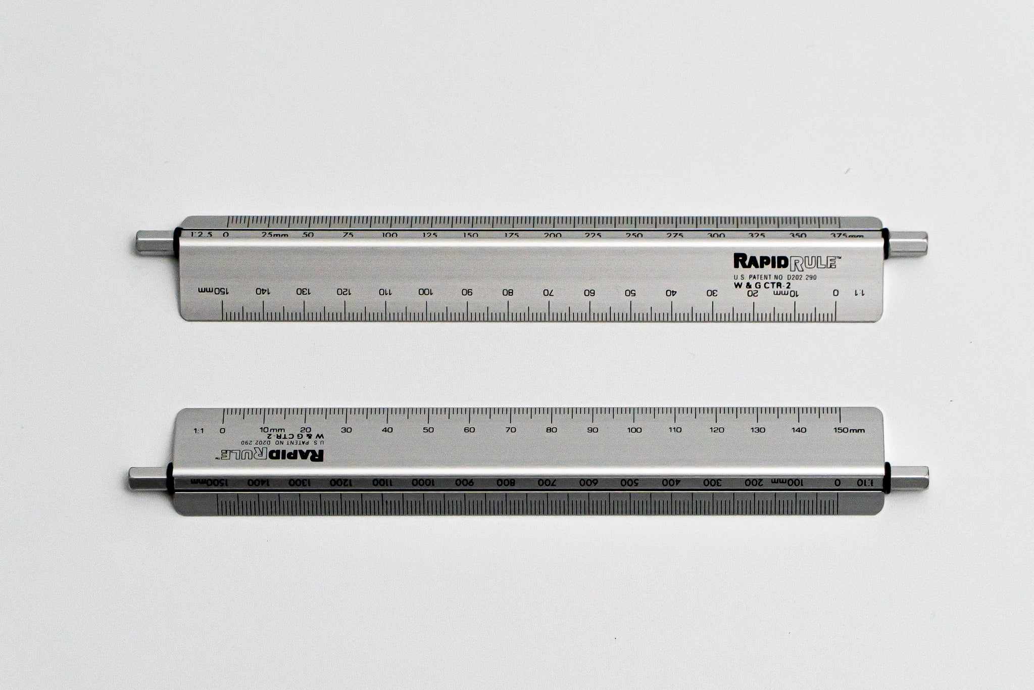 CTR-2 Rapid rule, 1:1, 2.5, 5, 10, 20, 50, 100 Length; 150mm, Metal