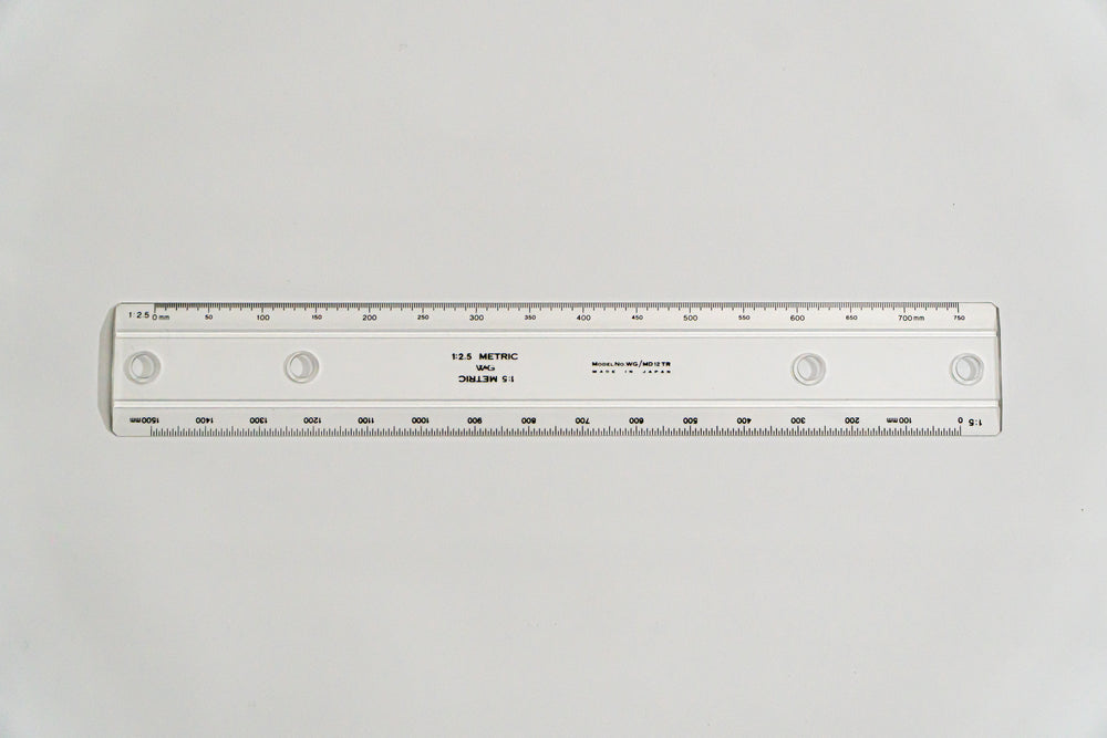 MD12TR  Drafting Machine Ruler, 1:2.5,5. Length: 300mm, 59mm spacing