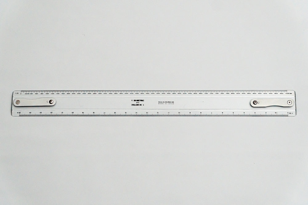 ME63-500 Drafting Machine Ruler, 1:20,50. Length: 500mm with B2 chuck plate fitted