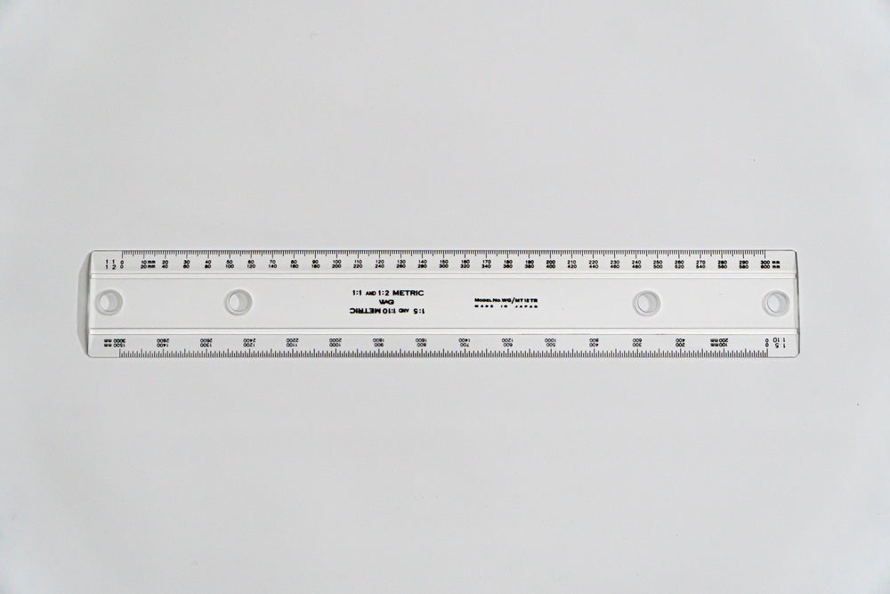 MT12TR Drafting Machine Ruler, 1:1,2,5,10. Length: 300mm