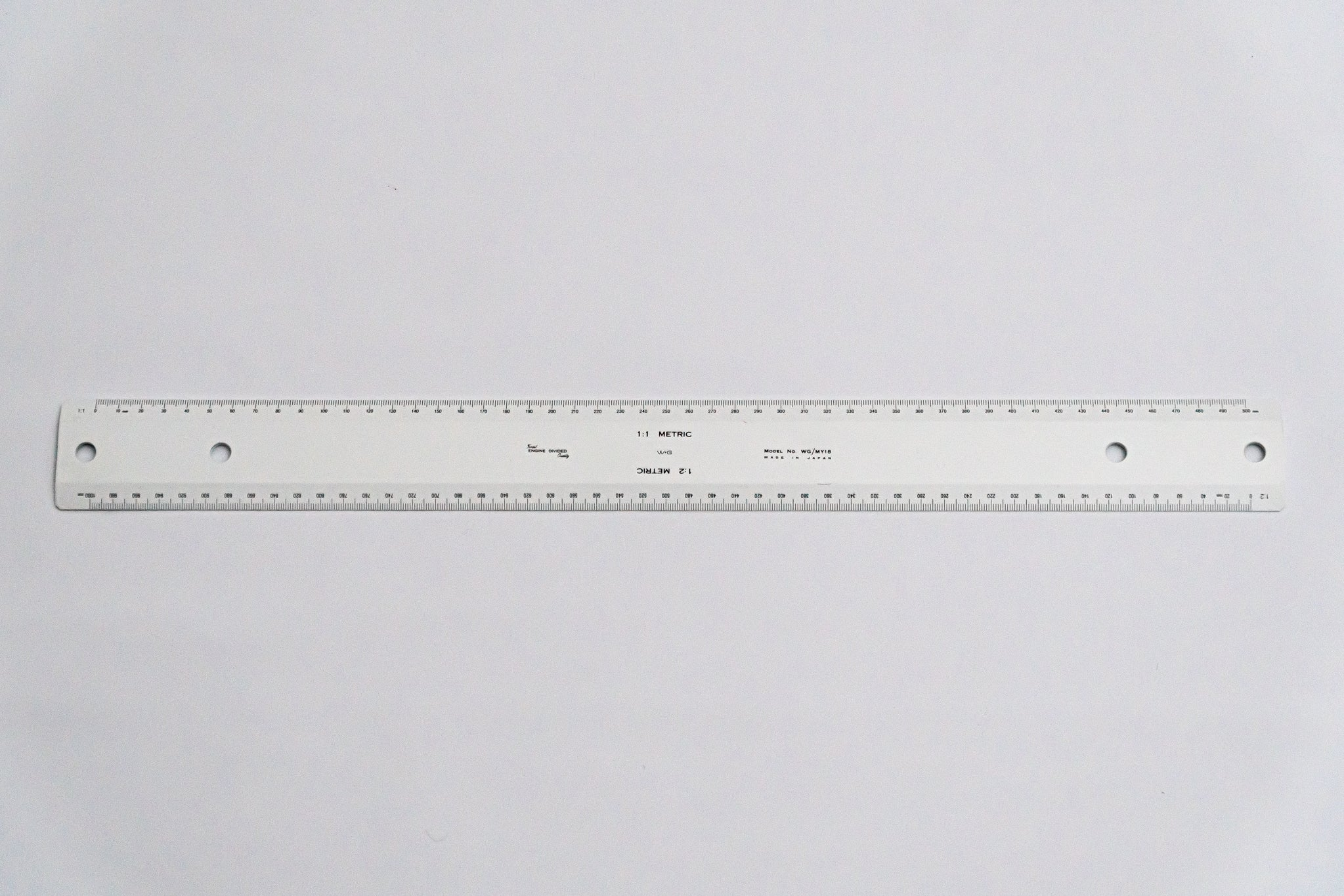 MY18 Opaque Drafting Machine Ruler, 1:1,2 Length: 500mm