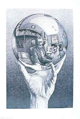 M.C. Escher Posters Hand With Sphere