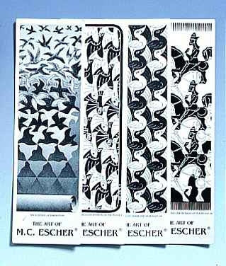 M C Escher Bookmarks Black and White Editions Set 5