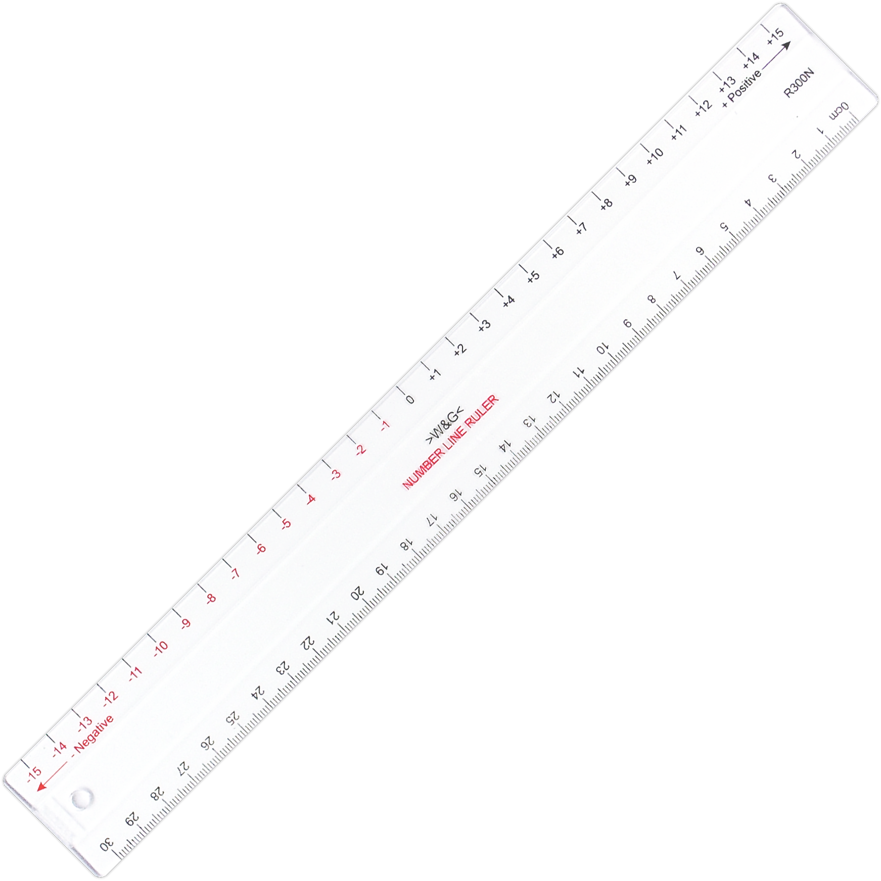 R300N (300mm) Ruler with Number Line