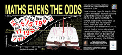 Maths Goes Underground - Maths Evens The Odds Poster