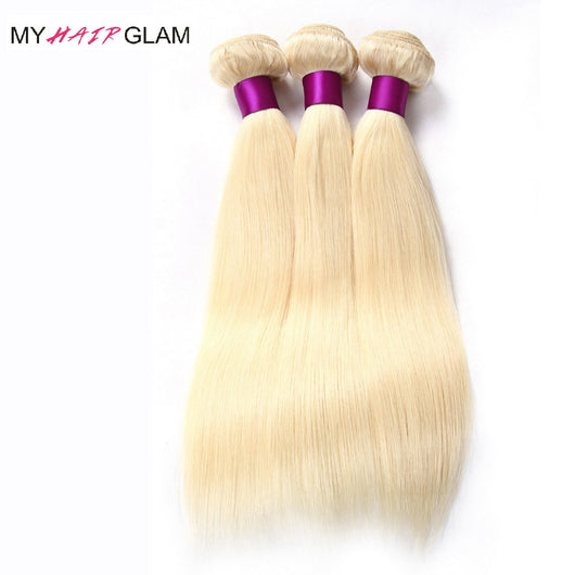 613 Blonde Brazilian Hair 3 Bundle Deal