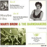 "Marti Brom with the Barnshakers 7"" Vinyl Record"