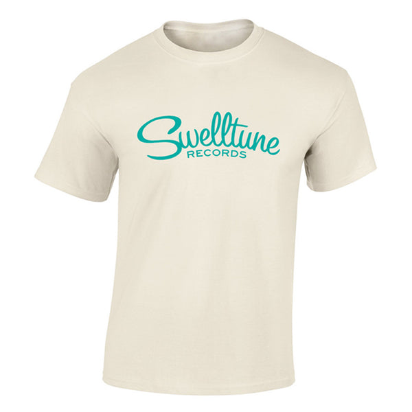Swelltune Records Classic Logo Shirt in Cream - Men's