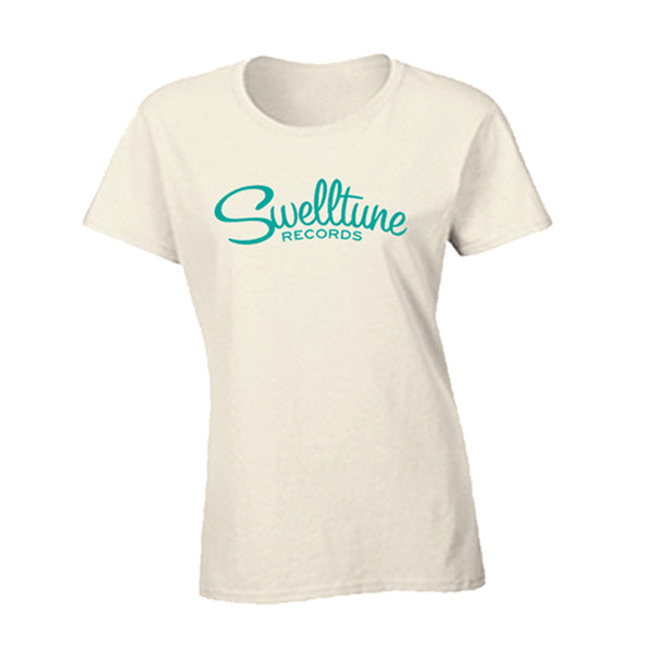 Swelltune Records Classic Logo Shirt in Cream - Women's