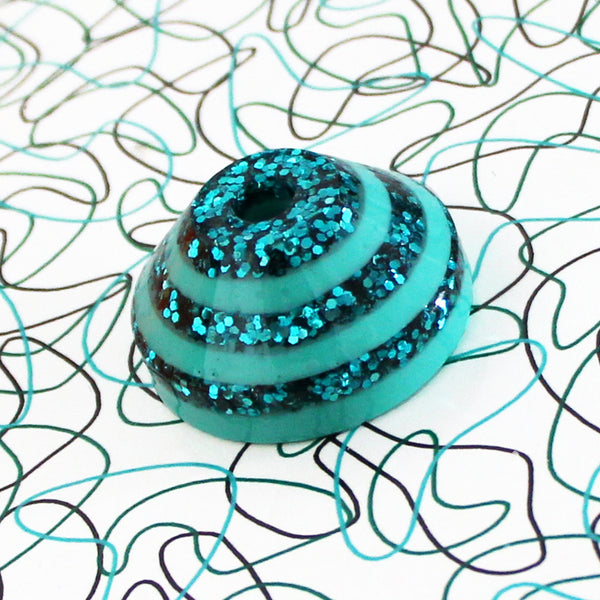 Sparkling Record Adapter in Stripey Shake-Up Teal
