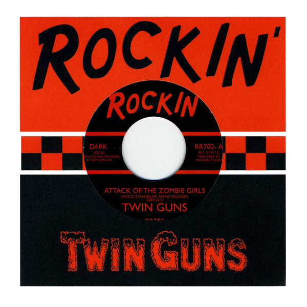 "Twin Guns - Attack of the Zombie Girls/The Human Jungle 7"" Vinyl Record"