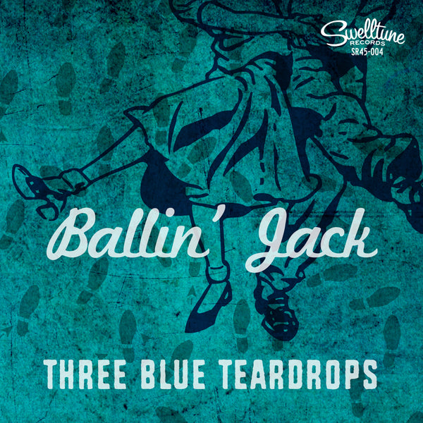 "Three Blue Teardrops - Ballin' Jack/Morbid Teenage Love Song 7"" Vinyl Record"