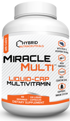 [ 71+ MiracleMulti™ Performance Blend ] Liquid-Caps Multivitamin for Men & Women | Vitamin Mineral Supplement with CoQ10 Superfood Enzyme Blend for Optimized Heart, Stamina, Energy - 60 Day Supply