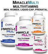 [ 110+ MiracleMulti Performance Blend ] ----- Advanced Multivitamin for Men | Non-GMO Vitamin Mineral Supplement w/ Probiotics Superfood Enzyme Blend for Optimized Heart, Prostate, Stamina, Energy - 60 Day Supply