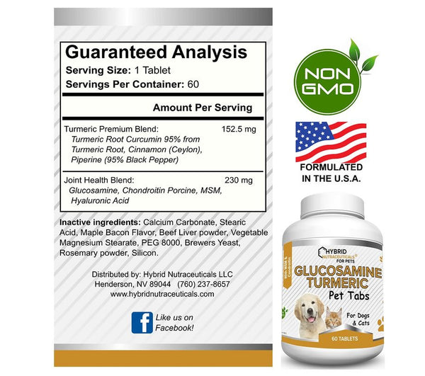 Glucosamine Chondroitin for Dogs, Turmeric, MSM, Joint Pain & Immune Support