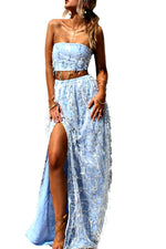 Embellished Vienna Sky Two Piece