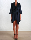 Sueded Robe Navy Dress