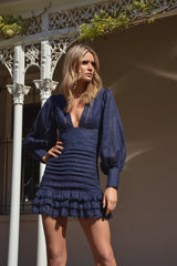 Mariposa Navy Dress