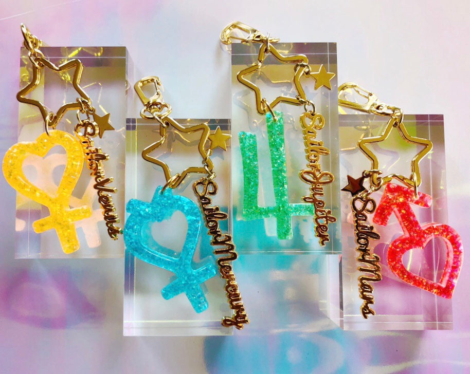 Sailor Senshi Keychain Set