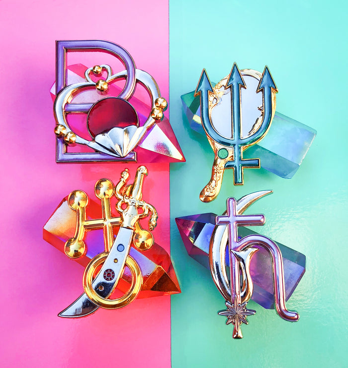 Outer Senshi Badge Set