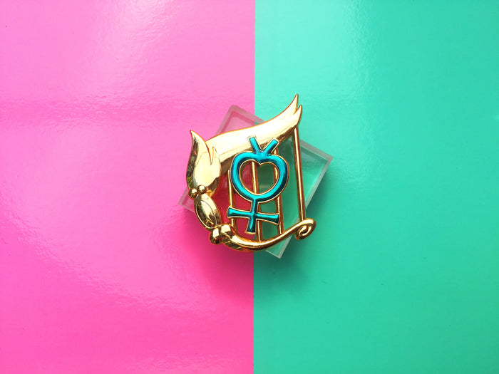 Mercury Senshi Badge Pin