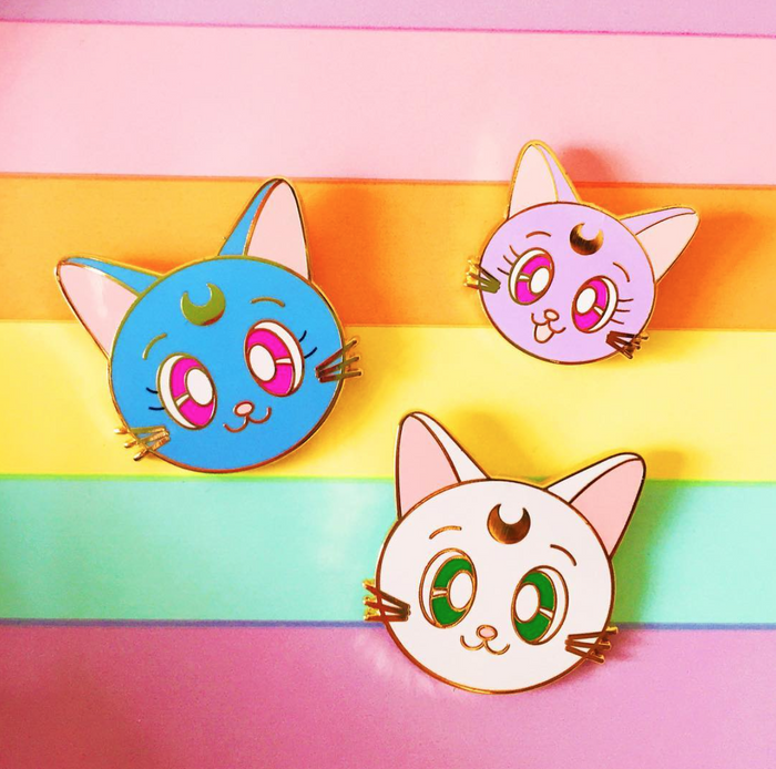 Moon Kitty family pin set!