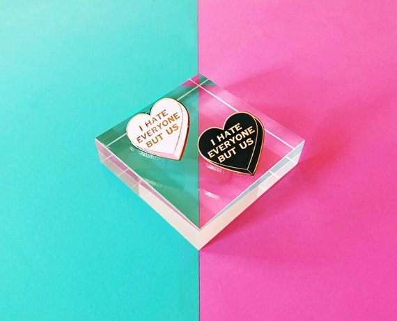 I hate everyone but us ~ Best Friends Pin Set~