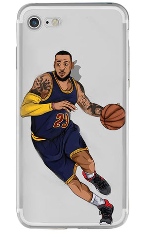 Lebron King James Clear iPhone Case