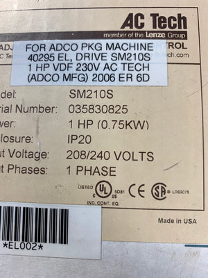 Lenze AC TECH SM210S Drive