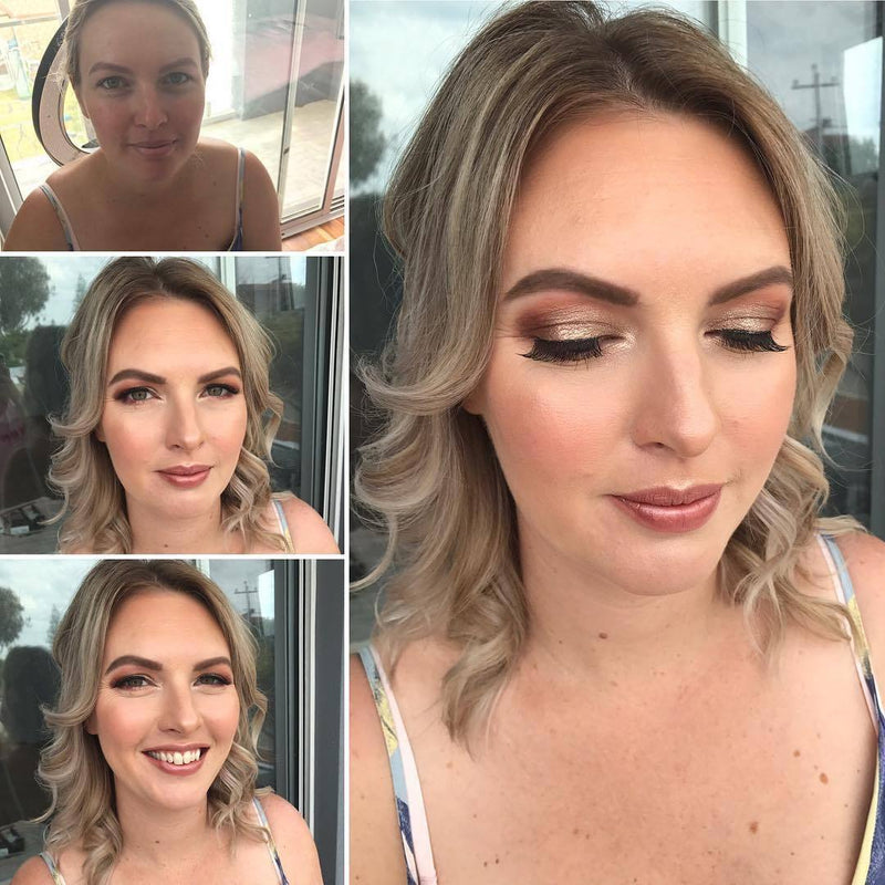 Glam makeup and hair in Perth