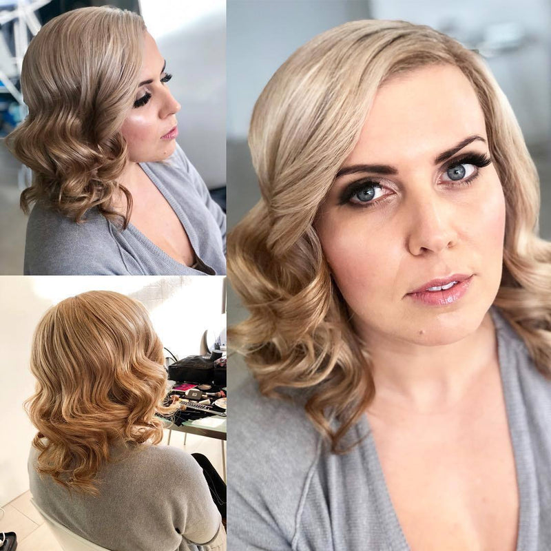 Vintage hollywood waves hair style Melbourne