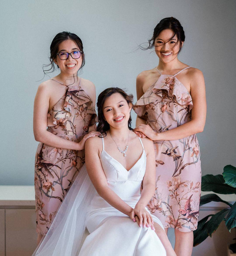 #brideandbridesmaids #asianbride #hairstyle#makeup#photo#wedding#withflayr