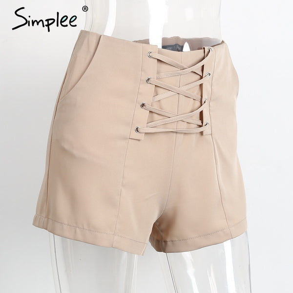 Cross Lace Up Shorts - CaliforniaSelf