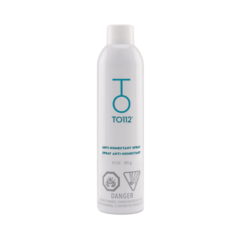 Anti-Humectant Spray locks out humidity preventing flyaways and frizz.
