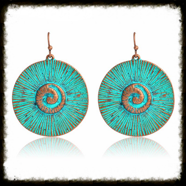 Spiral Design Bronze Earrings