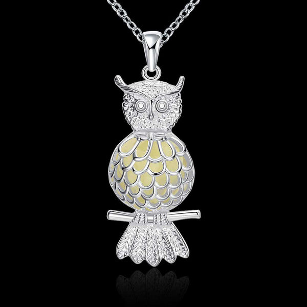 Glowing Owl Necklace