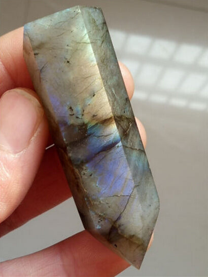 40g Natural Labradorite Stone Point Labradorite Crystal Wand Healing