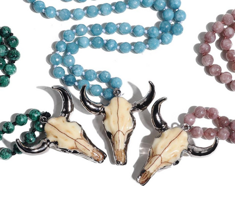 Boho Bull Head Necklace