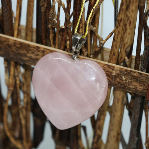 Rose Quartz Love Heart Pendant