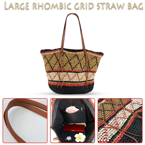 Woven Shopping Tote Bag