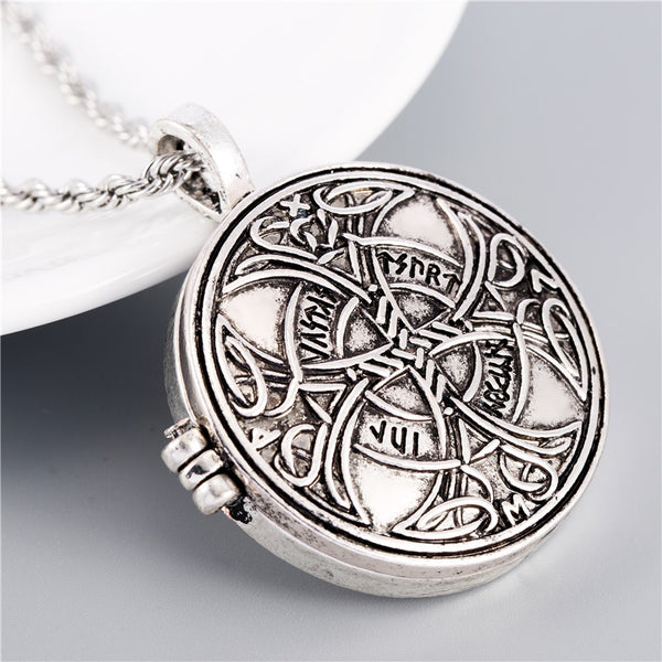 Celtic Love Locket Necklace