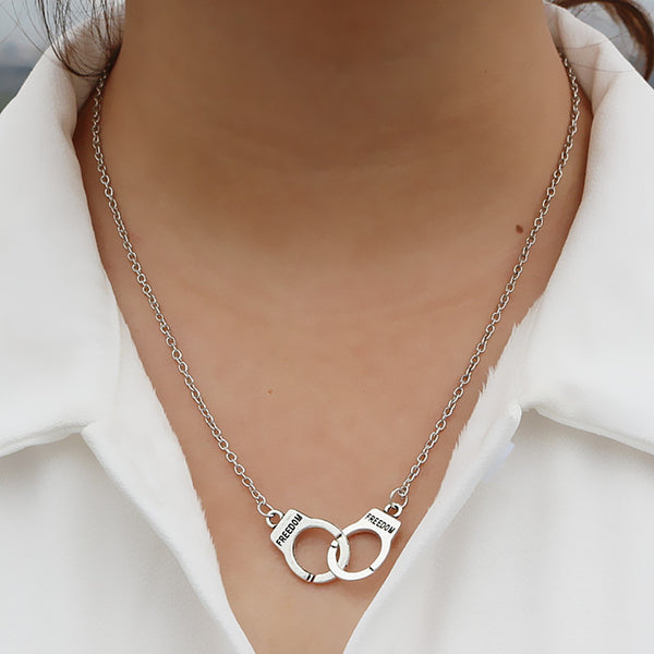 Lovers Handcuff Necklace