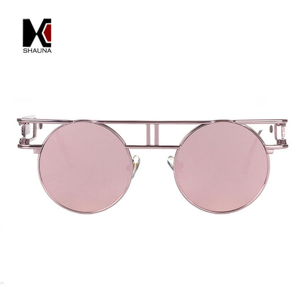 Unisex Unique Round Steampunk Sunglasses