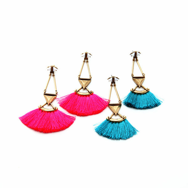 Bohemian Gypsy Ethnic Tassel Earrings