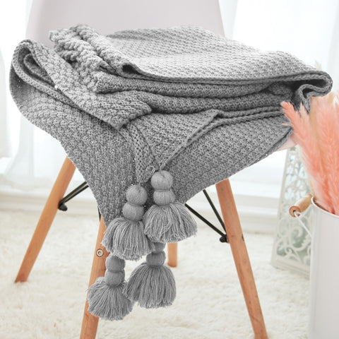 Woven Thread Knitted Throw
