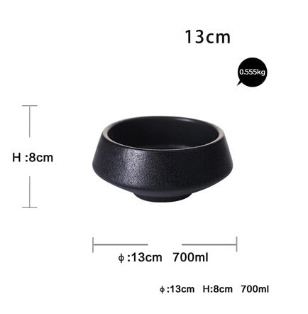 Ceramic  Black Matte  Bowl