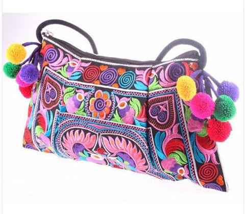 Boho Embroidered Handbag