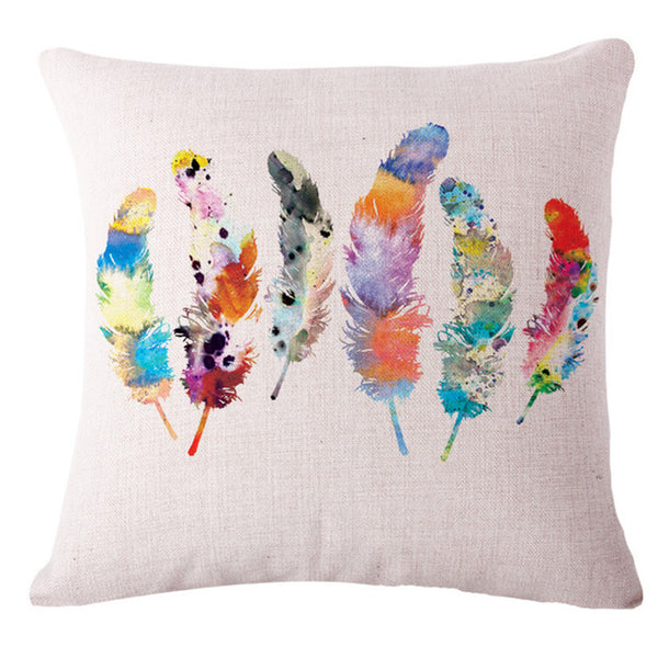 Feather Printed Pillow